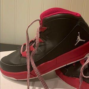 Girl's Jordans, pink and black